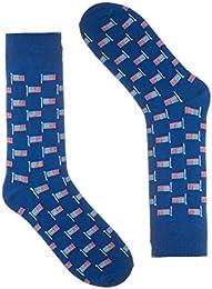 Novelty Socks for Men - Fun Colorful Dress Socks - Cotton - (One Pair)