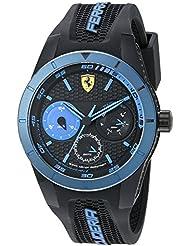 Ferrari Mens 0830256 REDREV T Analog Display Japanese Quartz Black Watch