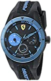 Movado Online Best Deals - Ferrari Men's 0830256 REDREV T Analog Display Japanese Quartz Black Watch