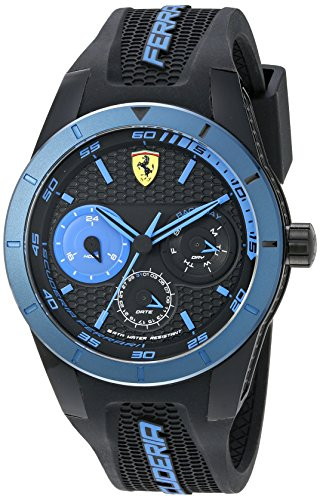 Ferrari Men's 0830256 REDREV T Analog Display Japanese Quartz Black Watch