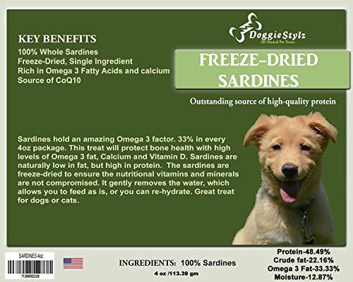 Doggie Stylz All-Natrual Sardines Freeze-Dried Dog Treats