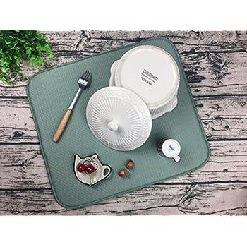 Amazon Com Oyatek Microfiber Dish Drying Mat For Kitchen