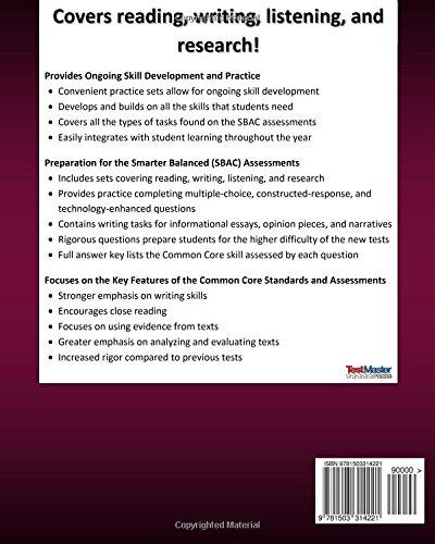 Amazon.com: CALIFORNIA TEST PREP SBAC Practice Book English ...