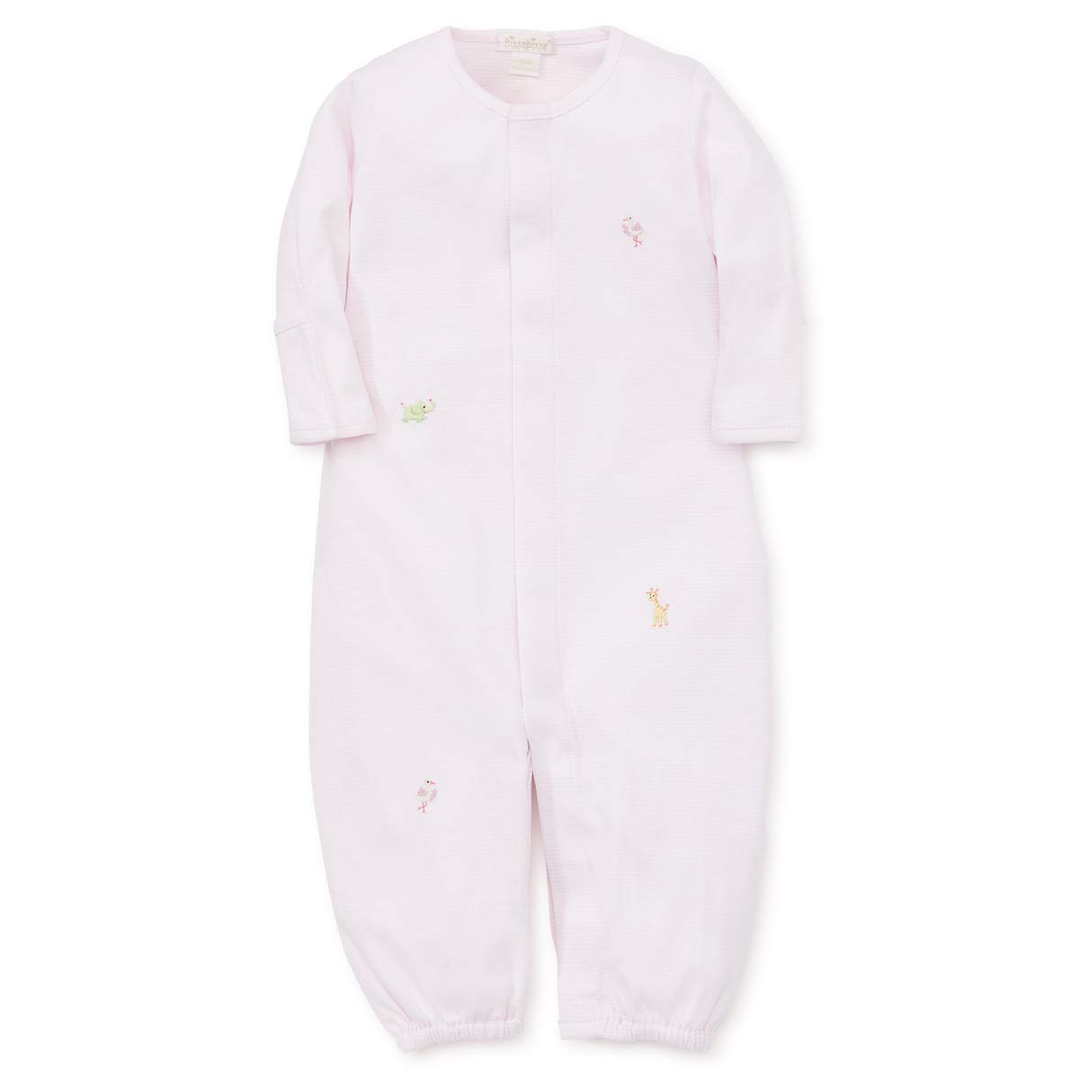 Kissy Kissy Premier Baby Girls Animal Crackers - Striped Coverter Gown w/Embroidery - Pink-Newborn by Kissy Kissy