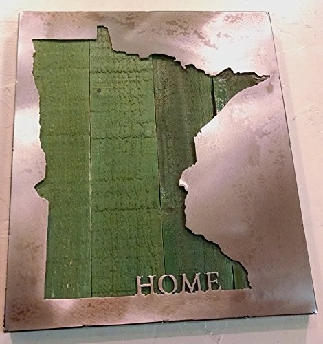 Custom State Map with ''HOME'' - State Love - Metal Art - Reclaimed Wood and Aged Steel by LegendaryFineArt (Image #2)