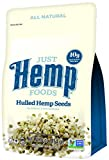Just Hemp Foods Hulled Hemp Seeds, 1lb; Non-GMO Verified with 10g of Protein & Omegas per Serving