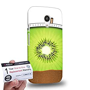 Case88 [Motorola Moto G (2nd Gen)] 3D impresa Carcasa/Funda dura para & Tarjeta de garantía - Art Hand Drawing Kiwi