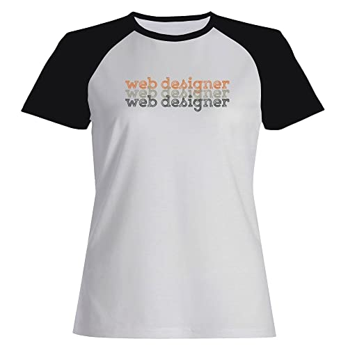 Idakoos Web Designer repeat retro - Ocupazioni - Maglietta Raglan Donna