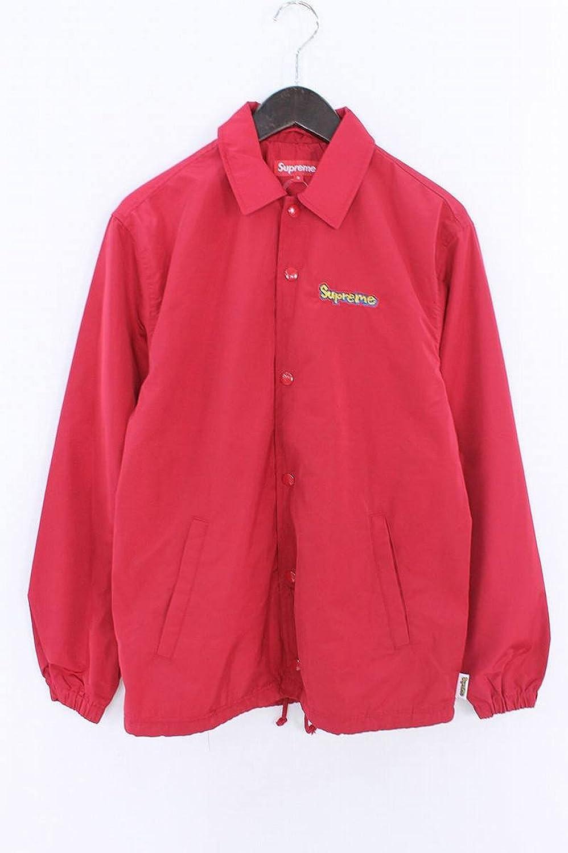 (シュプリーム) SUPREME 【18SS】【Gonz Logo Coaches Jacket】ゴンズグラフィックロゴコーチジャケットブルゾン(S/レッド) 中古 B07FBBBQFZ  -