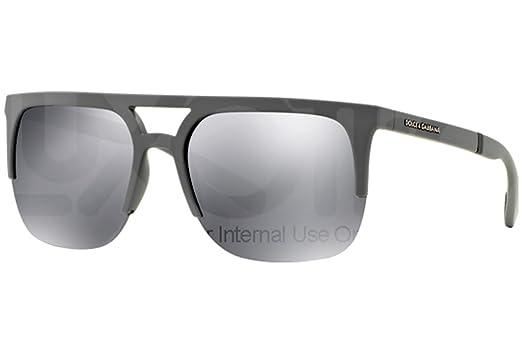 Amazon.com: Dolce & Gabbana 0dg6098 Gris anteojos de sol ...