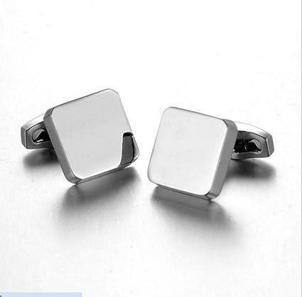 Moda sencilla mancuernas manga larga camisa mangas camisa accesorios Hombres simples y mujeres universal pequeño cubo