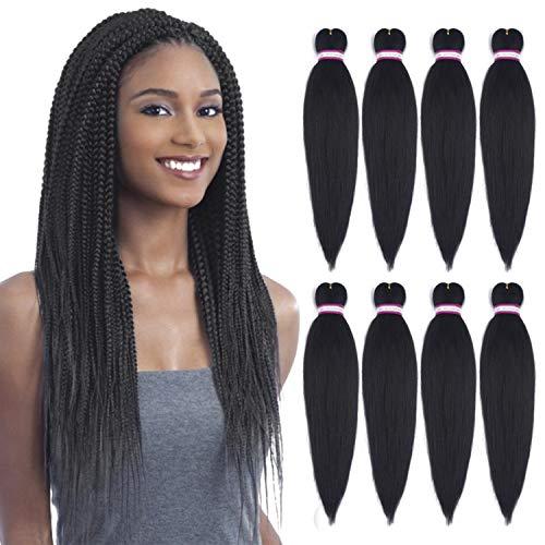 Pre-Stretched Braid 20 - 8 Packs Braiding Hair Made with Itch Free Antibacterial Fiber Crochet Hair Braiding Hair Extension