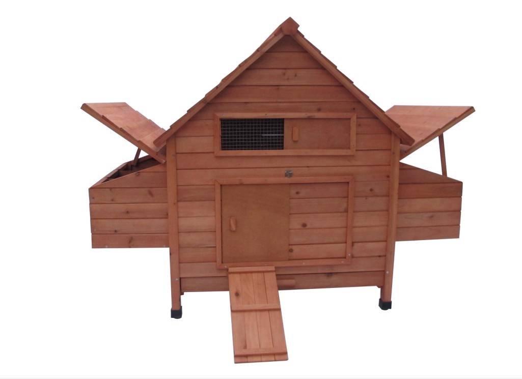 Ardinbir 62'' Deluxe Huge Solid Wood Chicken Coop / Hen House Duck Poultry Rabbit Hutch Cage with 6 Nesting boxes by Ardinbir (Image #1)