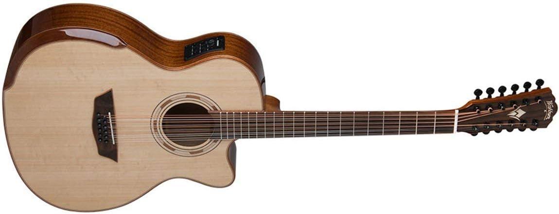 Washburn - Guitarra acústica eléctrica (12 cuerdas, WCG15SCE12-O ...
