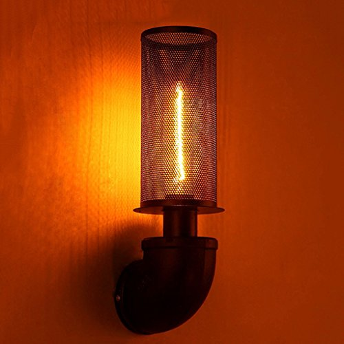 Crayom Lámpara de Pared Estilo Vintage Industrial 1 Luces de Aceite de Bronce de Bronce Mini Alambre de la Pared de la Pared...