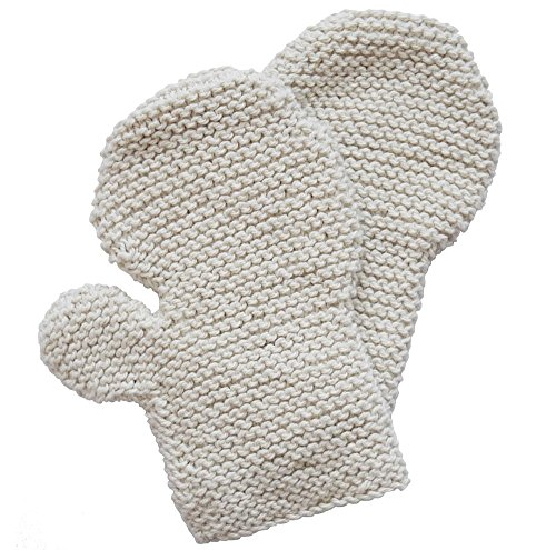 Toockies Hand Knit 100% Certified Organic Cotton Exfoliating Circulation Gloves