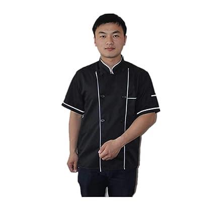 Chef Coats Kitchen Cooker Working Uniform Chef Waiter Waitress Coat Jacket Short Sleeve Business & Industrial