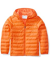 Amazon Essentials Boys Water-Resistant Packable Hooded Puffer Jacket