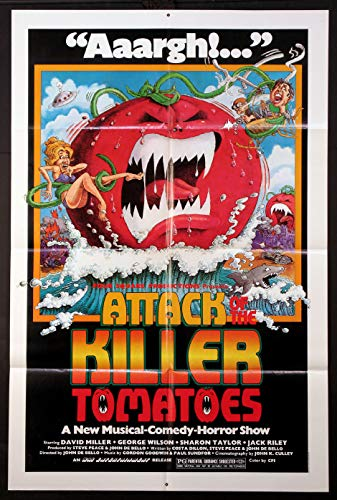 ATTACK OF THE KILLER TOMATOES CULT SCIENCE FICTION 1978 ORIGINAL 27X41 ONE SHEET MOVIE POSTER