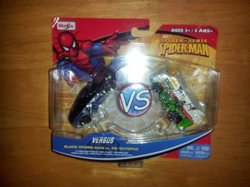 Marvel Spider Sense -Black Costume Spider-Man VS Dr. Octopus- 2 Collectible Die-cast Vehicles (Dr Octopus Costume)