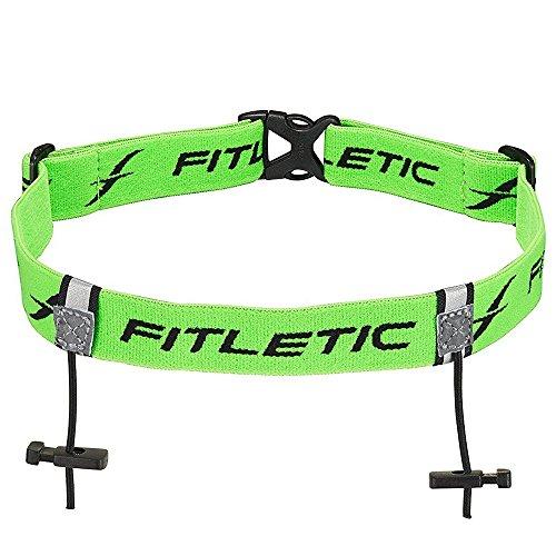 (Fitletic Race Number Holder Belt, Green)