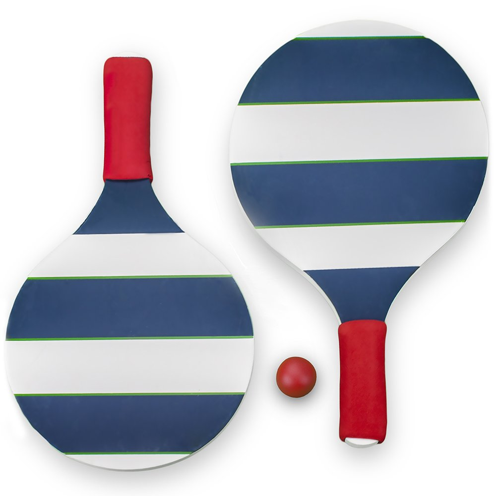 Striped Paddle Ball Set with Carrying Case by Sol Coastal