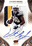 2011 Crown Royale Chargers Football Card #223 Vincent Brown Rookie Auto Jersey