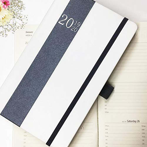 Planner 2019 Weekly/Monthly Academic Year Agenda Hardcover Planner Increase Productivity, Time Management Premium Thicker Paper Notebook with Pen Holder and Pocket A5(8.5x5)