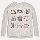 Mayoral girls handbag print sweatshirt, size 12