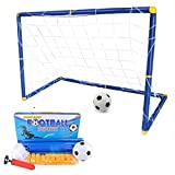 Suyi Large Size Portable Detachable Mini Kids Football Goal Soccer Door Set Best Gift For Baby,with Soccer Ball and Pump,Indoor and Outdoor Sports
