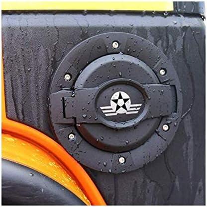 Surborder Shop Fuel Filler Door Cover Gas Tank Cap 2//4 Door for 2007-2017 Jeep Wrangler Unlimited JK Black