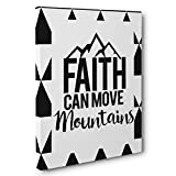 Faith Can Move Mountains Motivational Quote CANVAS Wall Art Home Décor
