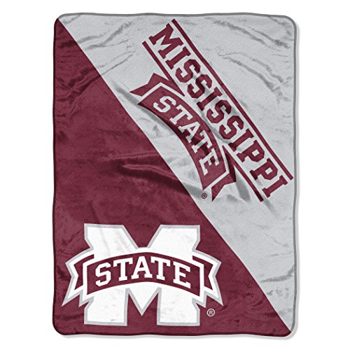 The Northwest Company Officially Licensed NCAA Mississippi State Bulldogs Halftone Micro Raschel Throw Blanket, 46