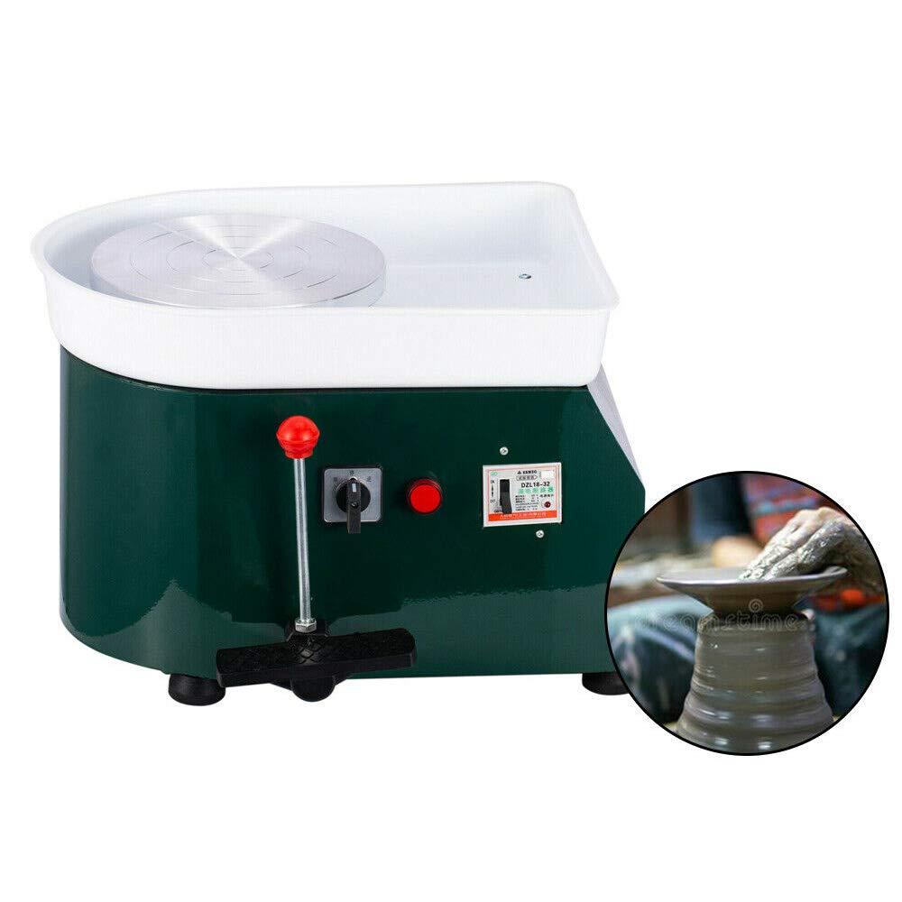 SOFEYD 110V 250W Electric Pottery Wheel Ceramic Art Machine Model Professional Amateur for Kid Child Teaching Pottery Bar Green