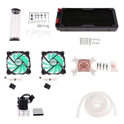 Baoblaze 240mm PC Liquid Water Cooling Kit Radiator CPU Block+Fan Pump Reservoir Tube for Intel