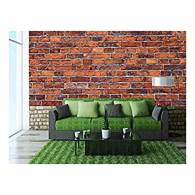 Abstract Close Up Red Brick Wall Background - Wall Murals