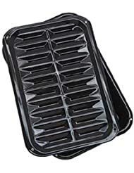 Range Kleen BP106X 2 PC Porcelain Broil and Bake Pan 12.75 Inch by 8.5 Inch