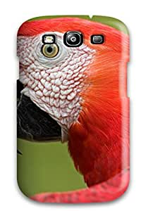 Hot New Scarlet Macaw Portrait Amazon Case Cover For Galaxy S3 With Perfect Design