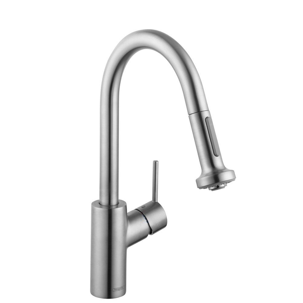 hg talis s 2 prep kitchen faucet w 2 spray pull down touch on hg talis s 2 prep kitchen faucet w 2 spray pull down touch on kitchen sink faucets amazon com