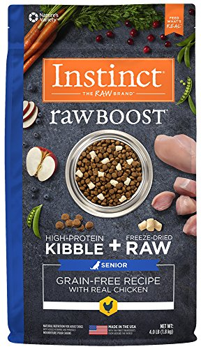 UPC 769949658313, Instinct Raw Boost Senior Grain Free Recipe with Real Chicken Natural Dry Dog Food by Nature's Variety, 4 lb. Bag