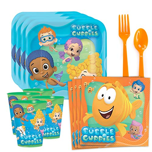 Bubble Guppies Standard Tableware Kit Plastic Favor Cups (Serves 8) -