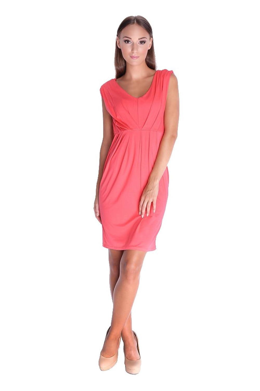 Kleid Elegant in V-Ausschnitt ohne Ärmel 6 Farben Gr. XS S M L XL XXL 3XL, 8437