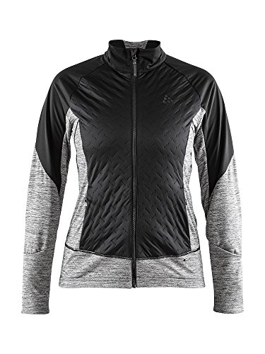 - Craft Sportswear Womens Fusion Nordic Cross Country Ski Quilted Windproof Lightweight Jacket, Black/Dark Grey Melange, Medium