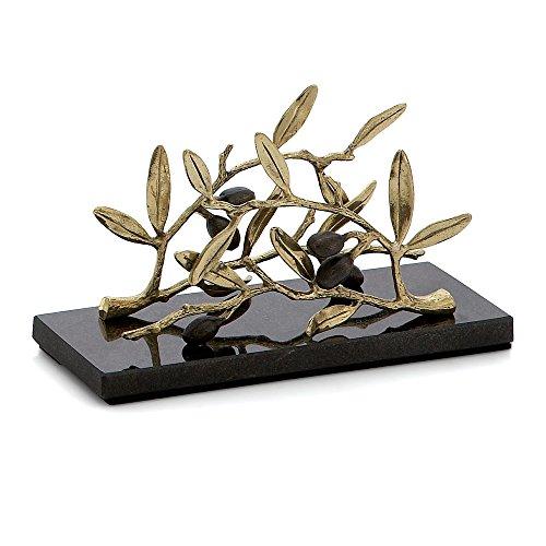 - Michael Aram Olive Branch Vertical Napkin Holder, Gold