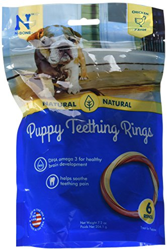Dog Chew Ring (N-Bone Puppy Teething Ring Chicken Flavor by N-Bone, 12-Count (2 - 6-Count, 7.2oz Bags)))
