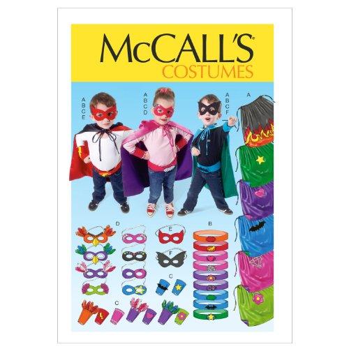 (McCall Patterns M6626KID Children/Boys'/Girls' Cape, Belt, Cuffs and Masks Sewing)