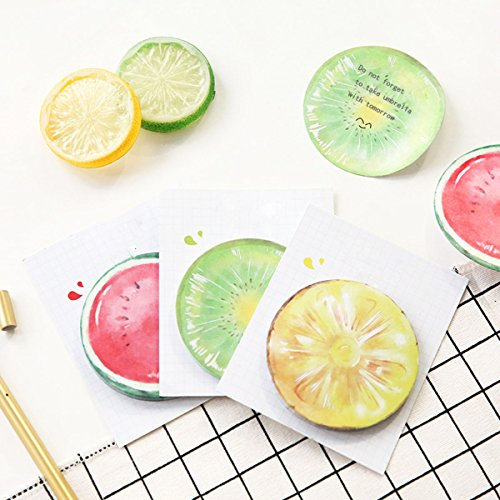 Sticky Notes Fruit 3D Print Self-sticky Memo Office Repost Gift for Students Children 9 Fruits 270 - Girls Repost