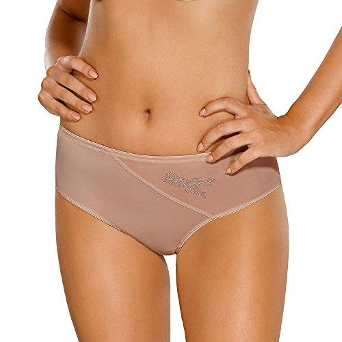 Nipplex Anita women's knickers briefs lace mesh plain (matching, Light Brown,M
