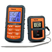 ThermoPro TP-07 Wireless BBQ Meat Thermometer for Grilling Smoker Oven Kitchen Turkey Remote Digital Cooking Food Grill Thermometer with Probe, 300 Feet Range, Smart LCD Backlit Screen