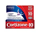 Cortizone 10 Maximum Strength Overnight Itch Relief 1 oz, Lavender Scent, 1% Hydrocortisone Anti-Itch Creme